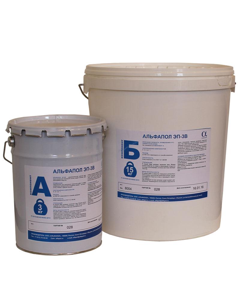АЛЬФАПОЛ ЭП-3В: эпоксидная краска по бетону на водной основе