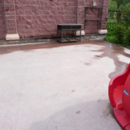 Внутренний двор. Материал — цементный ровнитель для создания водонепроницаемых непылящих износоустойчивых покрытий внутри и снаружи зданий — АЛЬФАПОЛ ВБ.