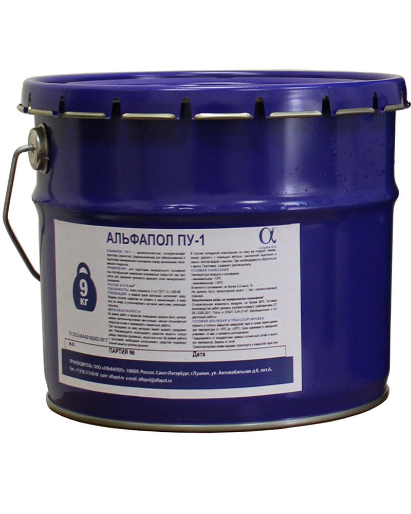 АЛЬФАПОЛ ПУ-1: однокомпонентная полиуретановая грунтовка-пропитка для бетонных оснований