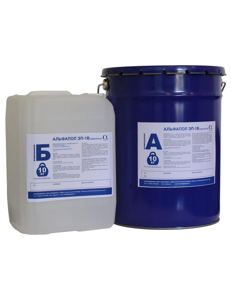 Эпоксидная грунтовка водоэмульгированная АЛЬФАПОЛ ЭП-1В (пропитка)