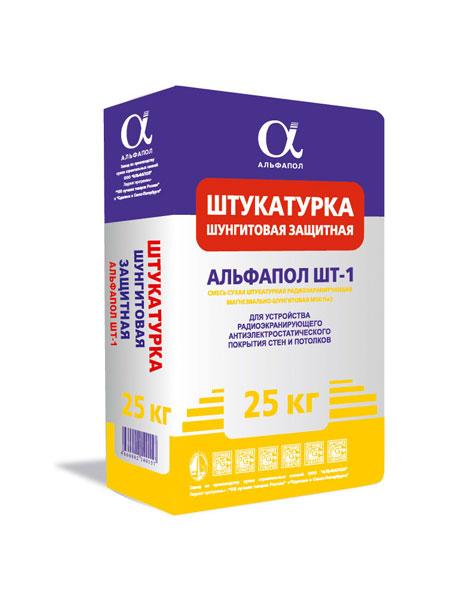 Штукатурка защитная радиоэкранирующая антистатическая АЛЬФАПОЛ ШТ-1 в упаковке 25 кг