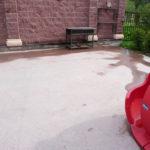 Внутренний двор. Материал – цементный ровнитель для создания водонепроницаемых непылящих износоустойчивых покрытий внутри и снаружи зданий – АЛЬФАПОЛ ВБ.